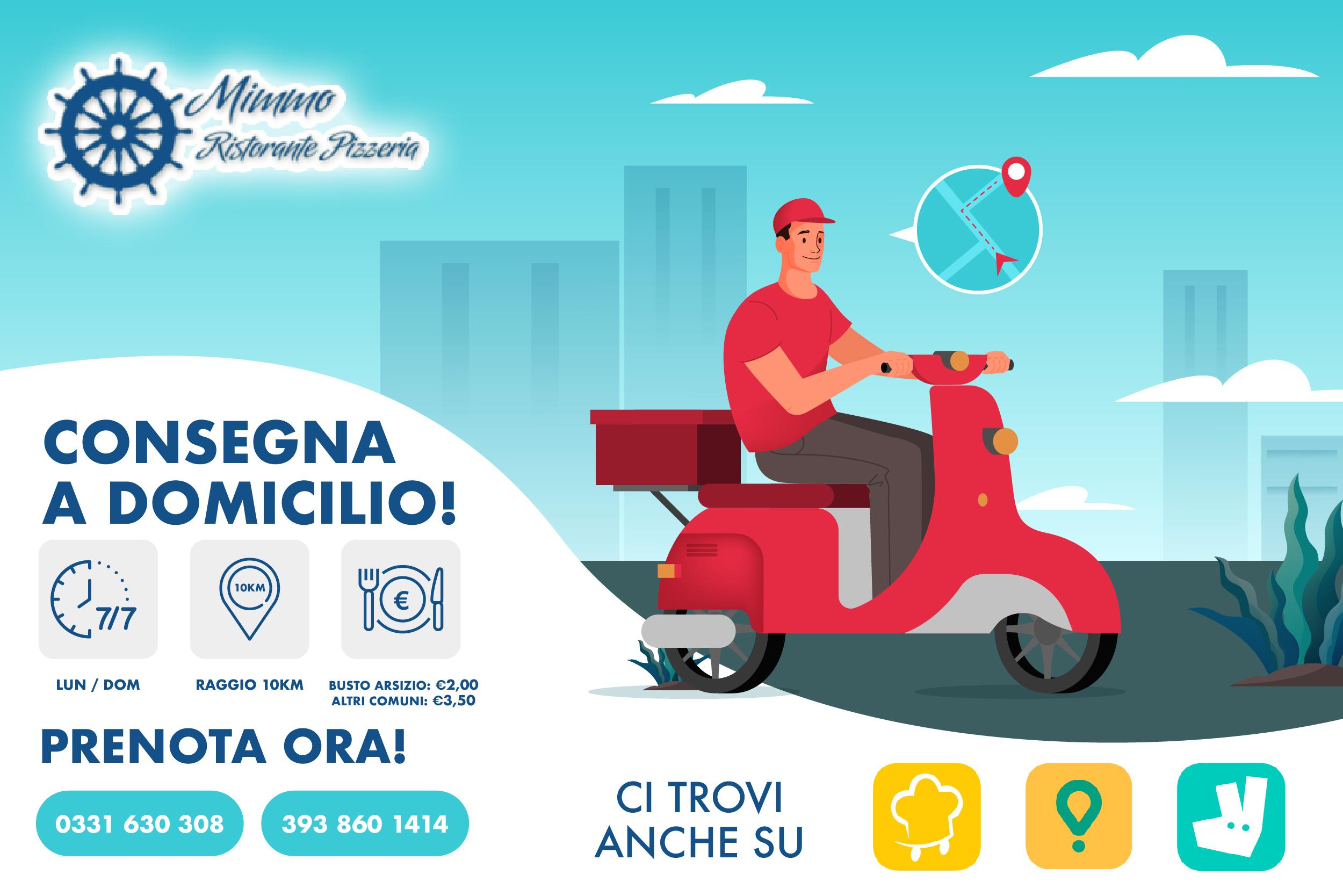 Ristorante Pizzeria Da Mimmo - Consegna a Domicilio